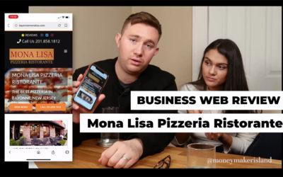 Business Web Review: Mona Lisa Pizzeria Ristorante